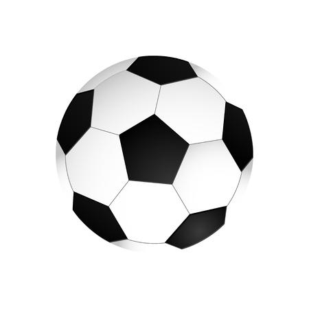 Soccer ball icon. Flat vector illustration in black on white background. Standard-Bild - 120066890