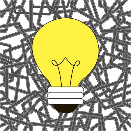 light bulb on texture background