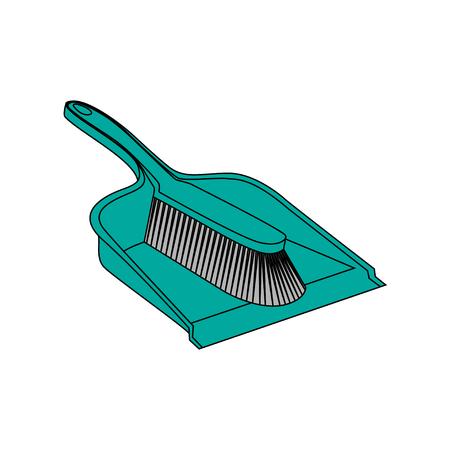 Cartoon trendy broom icons set. Vintage natural and modern plastic brooms.
