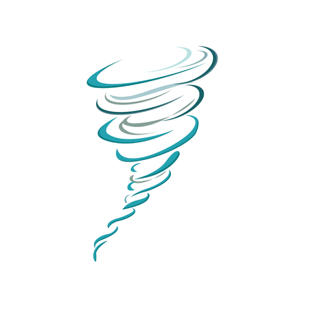 Tornado icon. Tornado storm icon isolated on white background. Typhoon, cyclone and hurricane simple vector illustration Standard-Bild - 120066897