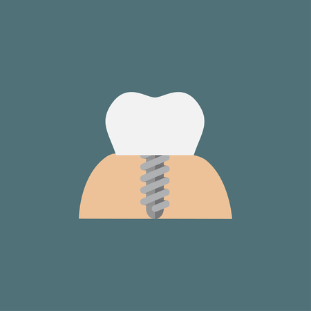 The symbol of tooth restoration. A dental implant Stock Photo