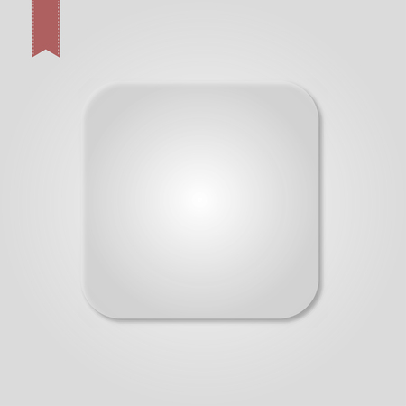 White Blank Icon Template for Web and Mobile Button with Shadow Vector Standard-Bild - 120067132