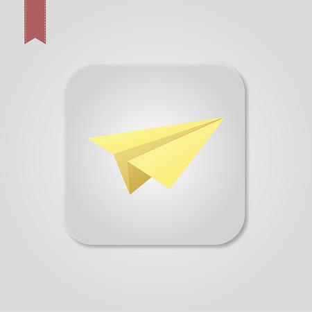 paper airplane, Web icon
