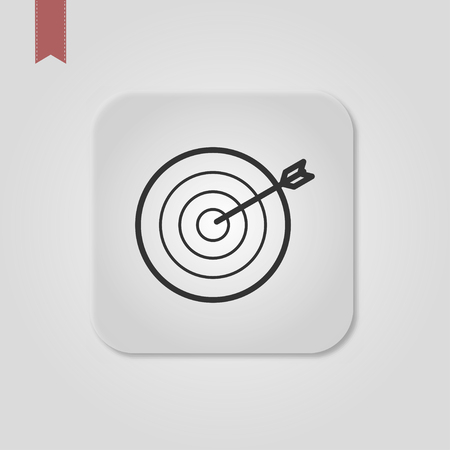 Target Icon Vector Illustration Çizim