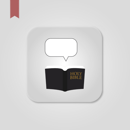 Bible Icon in trendy flat style isolated on grey background. Standard-Bild - 120067136