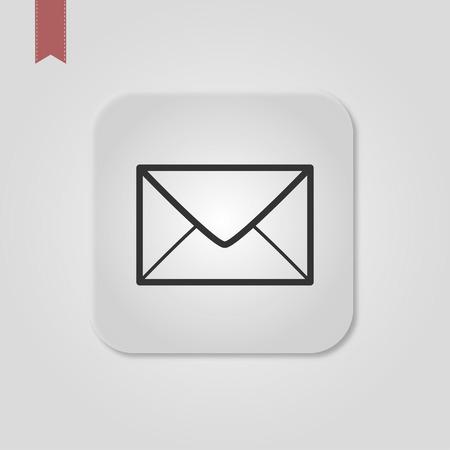 Envelope outline icon, letter, mail, email, message, vector illustration. Standard-Bild - 120067137