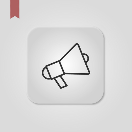 Megaphone Isolated Flat Web Mobile Icon  Vector  Sign  Symbol  Button  Element  Silhouette