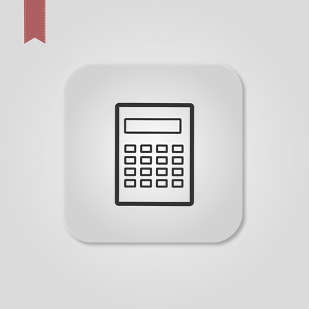 Calculator icon vector. Savings, finances sign isolated on white, economy concept, Trendy Flat style for graphic design, Web site, UI. Standard-Bild - 120067138