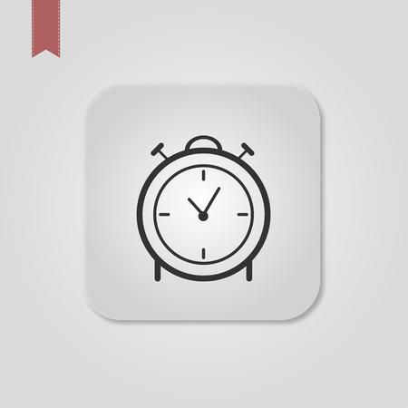 Vector illustration web icon push-button alarm clock Standard-Bild - 120067140