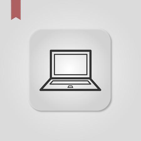 apply now button in thin line laptop. Standard-Bild - 120067141