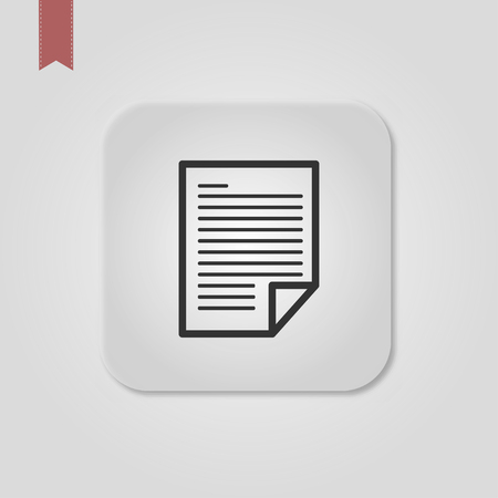 Title: Filled document super icon. Document vector illustration for graphic design. Document symbol. Çizim
