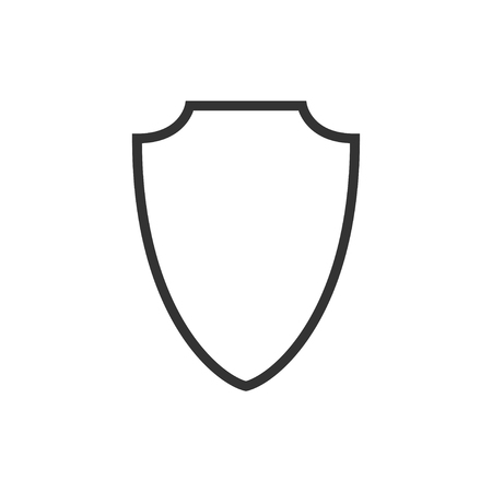 Abstract security vector icon illustration isolated on black background. Shield security icon. Lock security icon. Standard-Bild - 120067378