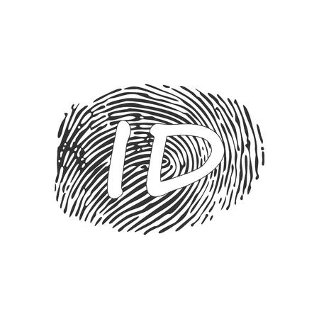 ID app icon. Fingerprint vector illustration Standard-Bild - 124749155
