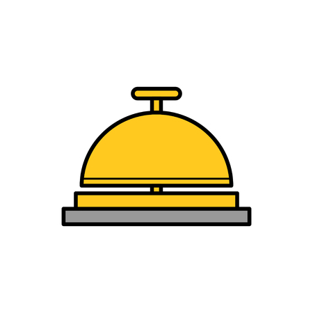 Travel hotel bell service flat vector icon that shows concept such as concierge, reception, assistance, can be use for personal or commercial use Vectores