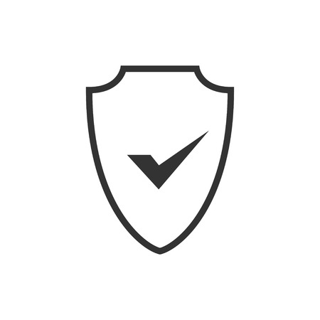 Abstract security vector icon illustration isolated on black background. Shield security icon. Lock security icon. Standard-Bild - 120067383