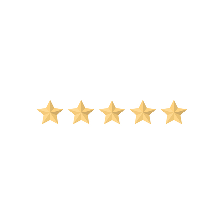 5 star rating icon vector illustration. Isolated badge for website or app - stock infographics Standard-Bild - 120067384