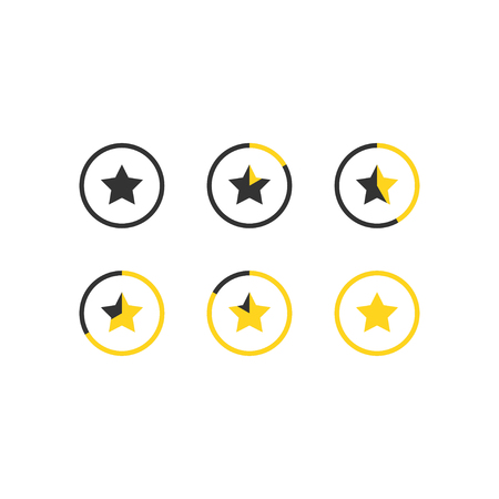 5 star rating icon vector illustration. Isolated badge for website or app - stock infographics Standard-Bild - 120067387