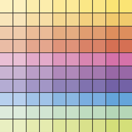 Colorful Spectrum Samples for Polygraphy. Rainbow Checked Pattern. Vector Illustration Standard-Bild - 120067389