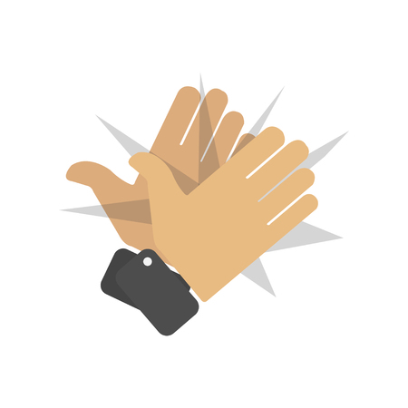 claping hands icon from party outline collection. Thin line claping hands icon isolated on white background. Standard-Bild - 120067390