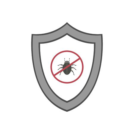 Vector shield icon. Security vector icon. Protection icon. Shield vector icon. Standard-Bild - 120067485