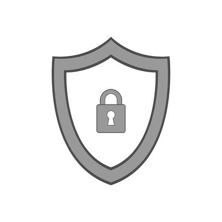 Vector shield icon. Security vector icon. Protection icon. Shield vector icon. Illustration