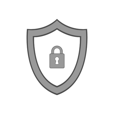 Vector shield icon. Security vector icon. Protection icon. Shield vector icon. Standard-Bild - 120067482