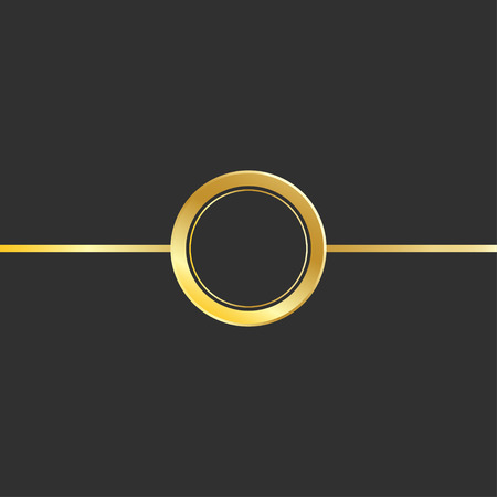 Magic gold circle light effect. Illustration isolated on background. Graphic concept for your design. Standard-Bild - 124561829