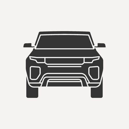 car icon vector isolated illustration. Flat icon Car symbol design inspiration