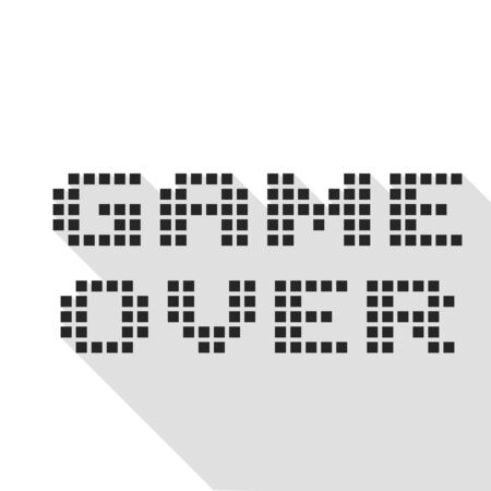 Game over pixel style icon illustration
