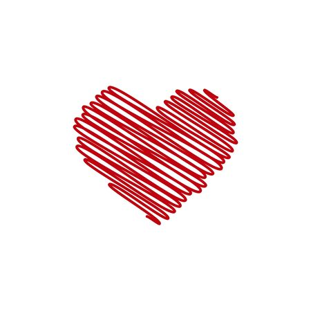 Red heart. Love icons isolated on white background. heart icon for love symbol, icon shape, greeting card and Valentines day. illustration concept Illusztráció