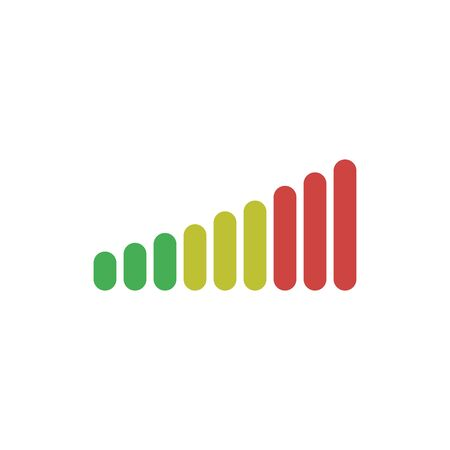 volume adjustment vector icon high medium and low negative and positive sign Illustration