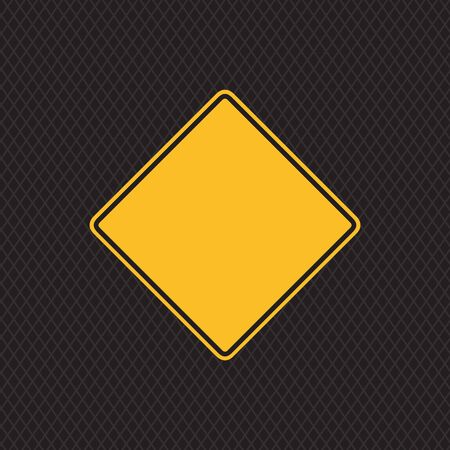 Priority road sign on dark doted metal texture