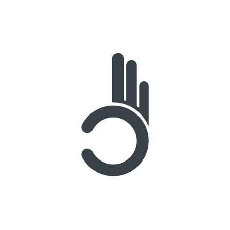 Gesture okay line and glyph icon, e commerce and marketing, best choice sign vector graphics, a linear pattern on a white background.