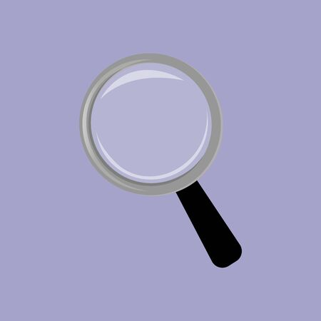 magnifying glass isolated icon flat style Иллюстрация
