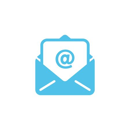 Vector design of flat icon, Mail or E-mail on isolated background.
