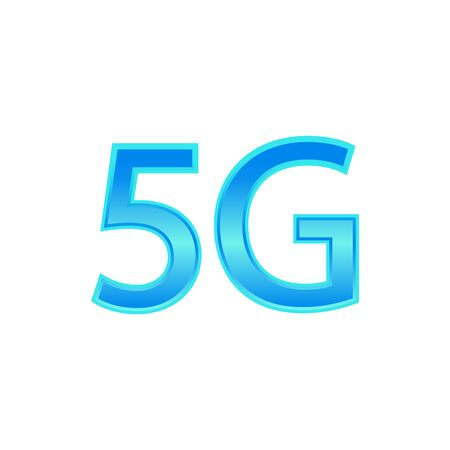 5G Vector Icon. 5th Generation Wireless Internet Network Connection Information Technology Illustration. Mobile devices telecommunication business web networking