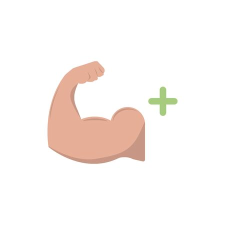 Biceps muscle icon. Bodybuilder strong arm sign. Weightlifting fitness symbol. Linear outline icon on white background 写真素材 - 129792304
