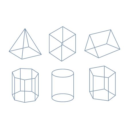 Set of geometric crystals. Geometric shapes. Trendy hipster retro backgrounds and logotypes Stock Illustratie