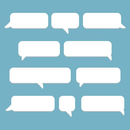 Vector modern sms or message icons. Bubble speech set