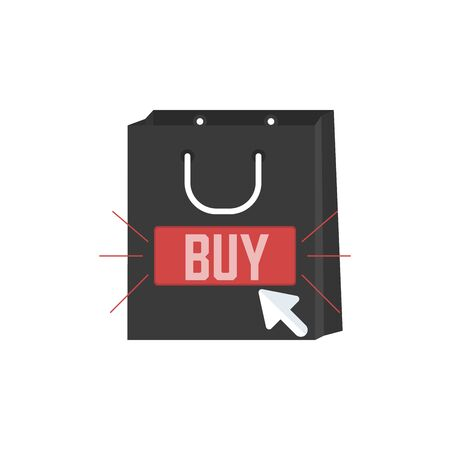 Buy Online, Purchase in One Click, Fast Delivery or Affiliate Marketing concept