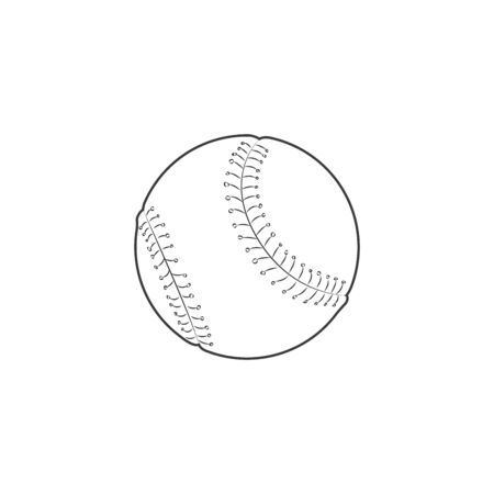 image of a baseball isolated in white background