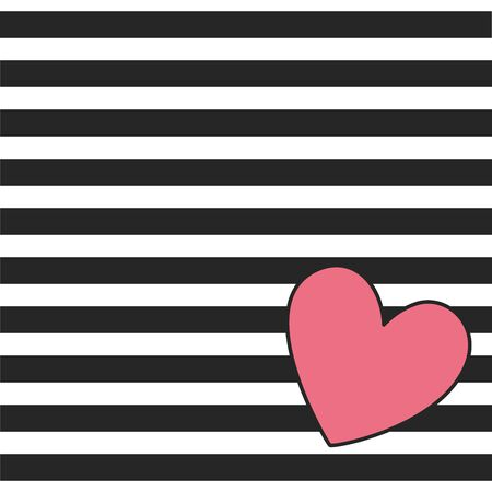 Beautiful seamless background. red hearts on black and white stripes. design greeting card and invitation of the wedding, birthday, Valentine s Day, mother s day and holiday.