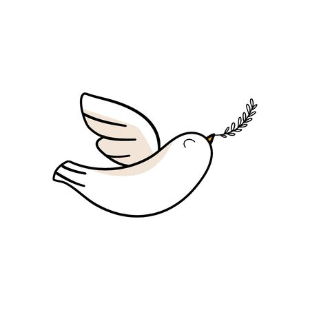 Peace Dove with with Olive Branch