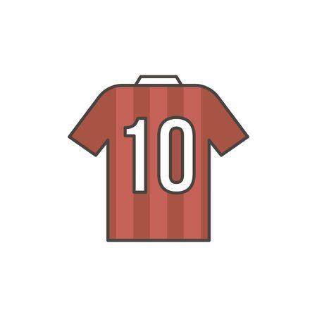 Soccer shirt for player. Part of association football uniform. Qualitative vector illustration for soccer, sport game, championship, gameplay