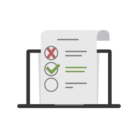 Survey design over white background, vector illustration