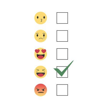 Emoji Smiley Face Vector Design Art Trendy Communication Chat Elements