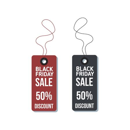 Black Friday sales tag vector, grouped for easy editing. No open shapes or paths. Black friday design, sale, discount, advertising, marketing price tag. Clothes, furnishings, cars, food sale,