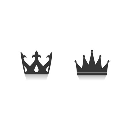crown - vector icon with shadow