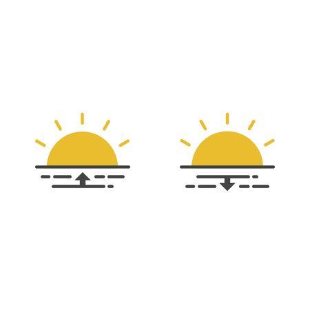 Sunshine logo. Vector graphic illustration Stock Illustratie