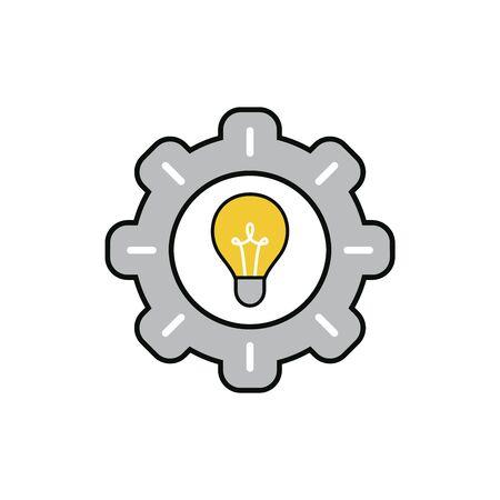Power idea symbol icon. Flat design. vector illustration